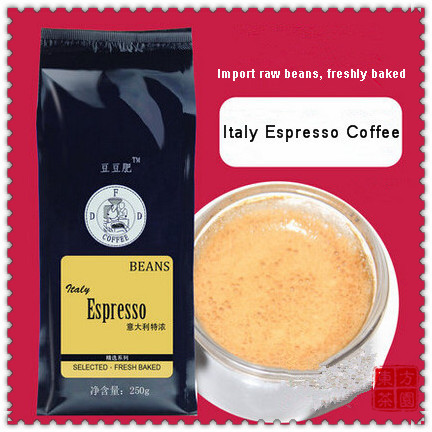 2015 New Arrival Fresh baked Italy Coffee Beans Sugar Free Espresso Coffee Oil Rich Slimming Coffee