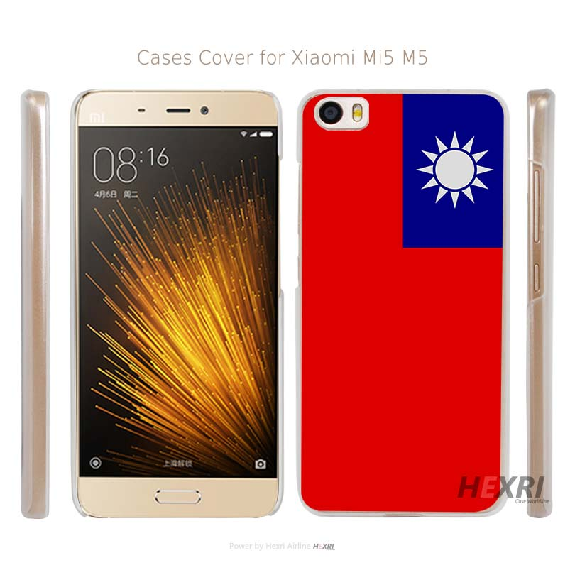 Taiwan flag Transparent Hard Mobile Cell Phone Case Cover for Xiaomi Mi 4 5 Redmi Note 3 4 Pro Prime(China (Mainland))