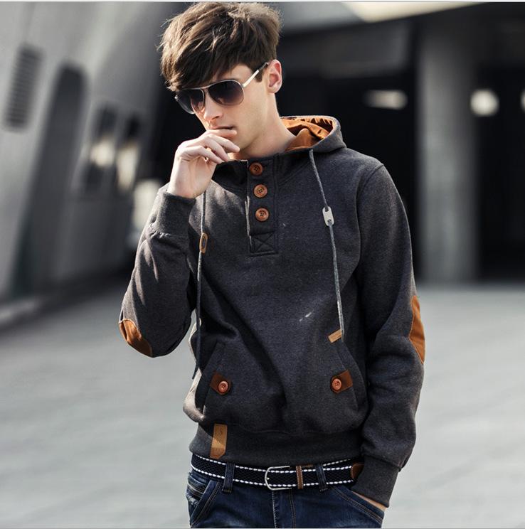 Free Shipping 2015 NEW brand sports hoodies men fleece Fashion men's warm Hoodies Sweatshirts, Suit Hoody jacket 5 colors 6114(China (Mainland))