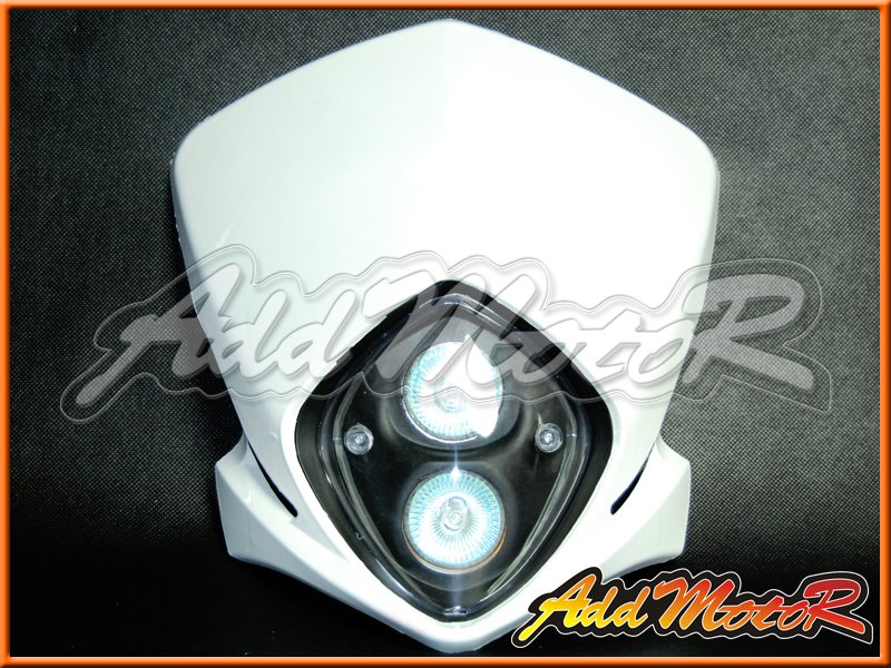 White Universal Motorbike Streetfighter Headlight Fairing Enduro Cross LL28(China (Mainland))