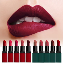 1Pcs New Brand Women Ladies durable waterproof matte lipstick color does not fade the color Lips Gloss Maquiagem #84289(China (Mainland))