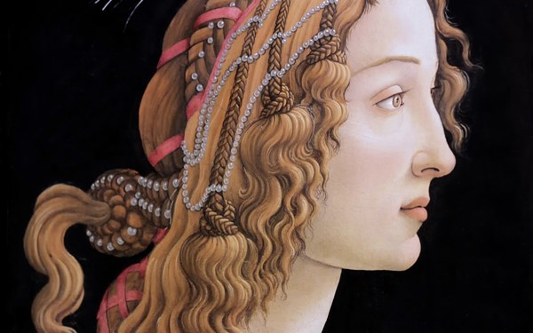 Sandro Botticelli the great Italian painter portrait of a young woman 4 Sizes Home Decoration Canvas Poster Print(China (Mainland))