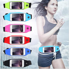 4.7″ 5.5″ Sport Waist Pack Pouch Waterproof Running Bags Purse Phone Cover Case For iphone 6 6S Plus Smartphone Bag For Samsung
