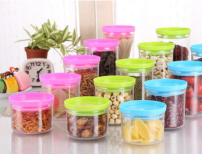 Circular plastic fresh cup storage box with lid grains seal suitable for the kitchen microwave(China (Mainland))