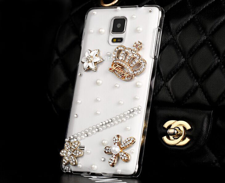3D Handmade Luxury Shining Glitter Crystal Diamond An crown Rhinestones for iphone5 5s Case Hard Back Case Cover(China (Mainland))