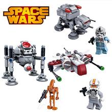 SY New STAR WARS Spaceship Clone 3pcs/lot Gunship Building Blocks Minifigures Bricks Action Figures Toys for Children Juguetes