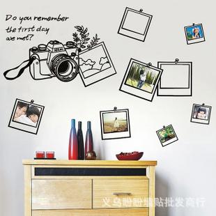 LD603 New Free Shipping Popular Camera Photo Frame Wall Sticker Wall Mural Home Decor Room Kids(China (Mainland))