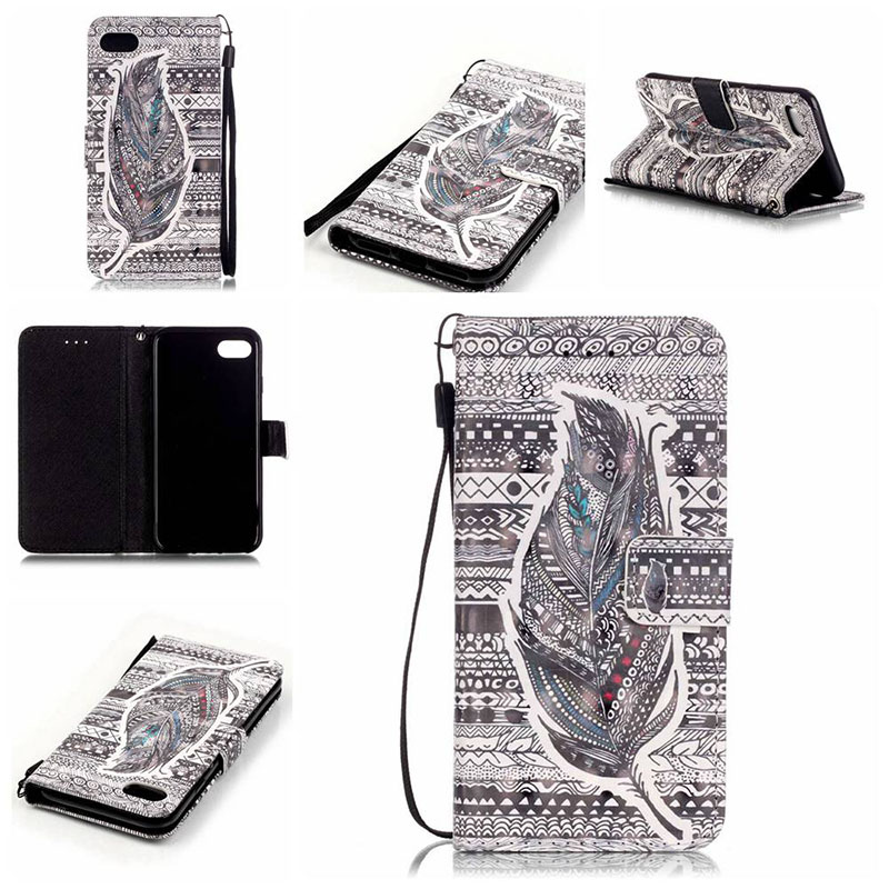 For Huawei P9 Lite For LG K5 K7 Case 3D Relief Painting Phone Case Flip wallet Cover For Samsung Galaxy S4 S5 S7 S6 Edge Plus