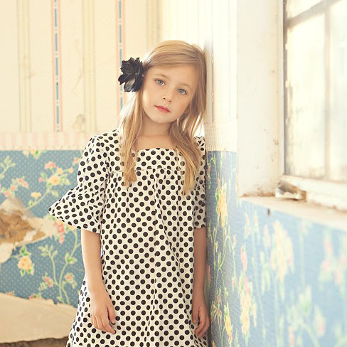 2015 Big Kids Girls Print Polka Dots Dresses Baby Girl Summer TuTu Flare Sleeve Dress Children' s Clothing Babies Clothes - Miss2010 store