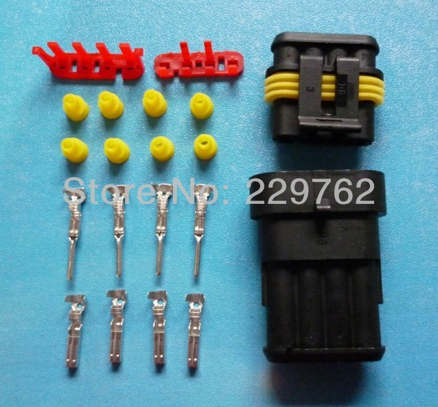Free Shipping 100 sets DJ7041-1.5 4Pin car connector,car oxygen sensor plug,Car waterproof electrical connector for car ect<br>