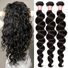 Peruvian Virgin Hair Extension Loose Wave 3 Pcs Peruvian Loose Wave Rosa Hair Products Peruvian Curly Human Hair Weave Bundles(China (Mainland))