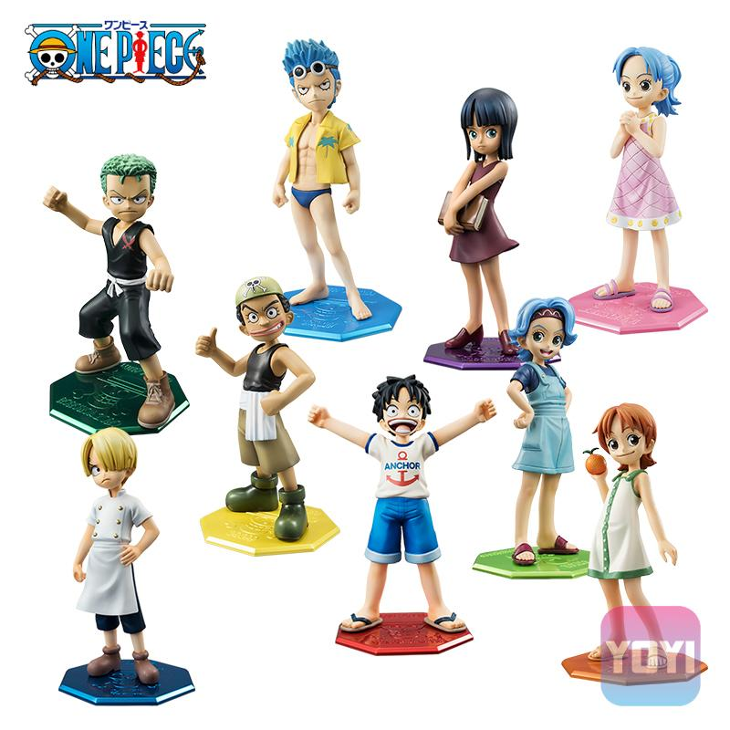 2015 hot sale new 12cm One Piece MH POP MILD childhood Nico Robin Nami Luffy Frankie Sauron Usopp action figure toys Wholesale(China (Mainland))