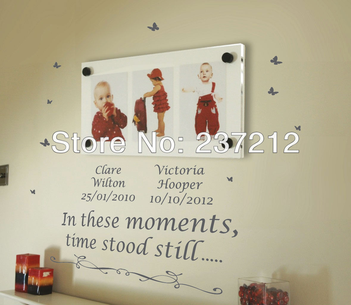 Free Shipping/Personalised In These Moments,Time Stood Still Wall Quotes Stickers Wall Decals(China (Mainland))
