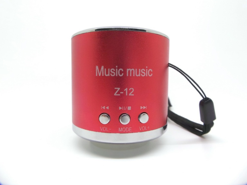 20pcs/lot Z12 Mini Portable Speaker Amplifier FM Music Radio Sound HIFI Support USB Micro Line in for SD TF Card MP3 Player(China (Mainland))
