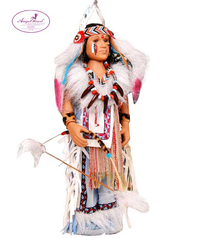 29CM Native American Indian Doll Brithday Christmas Gift Black Skin Porcelain Doll  Free Shipping<br><br>Aliexpress