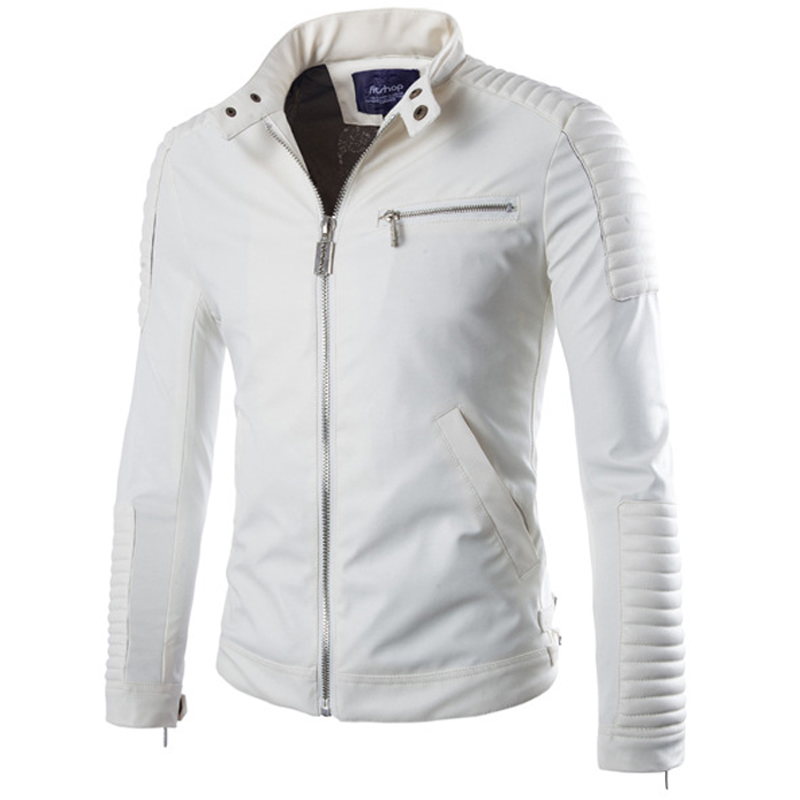 Brand White Pu Leather Jacket Men 2015 Winter Motorcycle Jacket Design Mens Slim Fit Biker Jacket Stylish Veste Cuir Homme XxlОдежда и ак�е��уары<br><br><br>Aliexpress