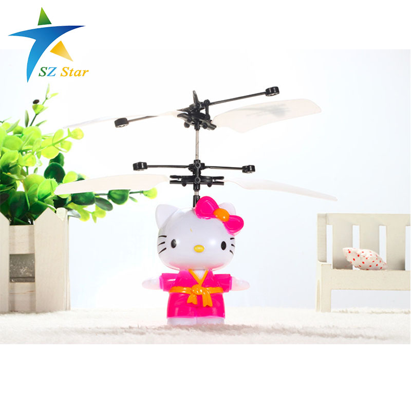 hello kitty electric RC plane Induction aircraft children kid Remote Control Airplane toy Automatic manual infrared sensors(China (Mainland))