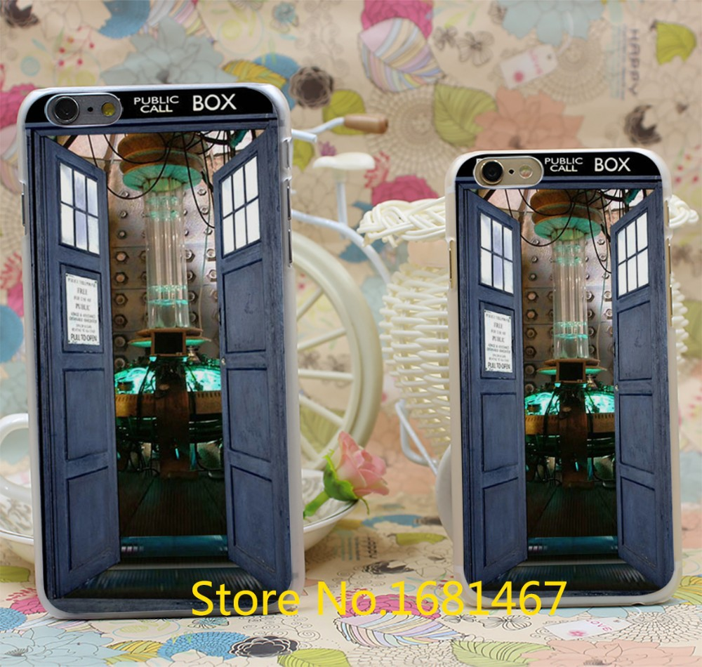 Doctor Who Tardis Box Design Hard Clear Skin Transparent For iPhone 7 7 Plus 6 6s 6 plus 6+ Case Cover