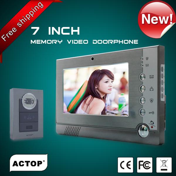 wired video doorphone support CCTV camera (VDP318+CAM210)(China (Mainland))