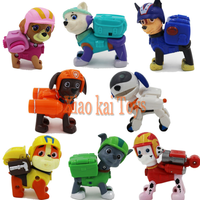 8pcs/Set Anime Kids Toys Patrol Puppy Toy Canine Patrulla Canina Action Toy Figures Patrol Dogs Brinquedos Movable Joints(China (Mainland))