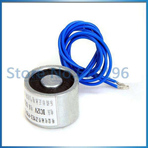 12V DC 3W Electric Lifting Magnet Holding Electromagnet Lift 2.5Kg Solenoid 4PCS(China (Mainland))