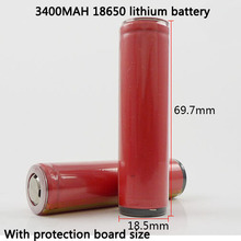 Latest genuine 18650 lithium battery for Sanyo 3.7V 3400mAh e-cigarette power supply battery protection board
