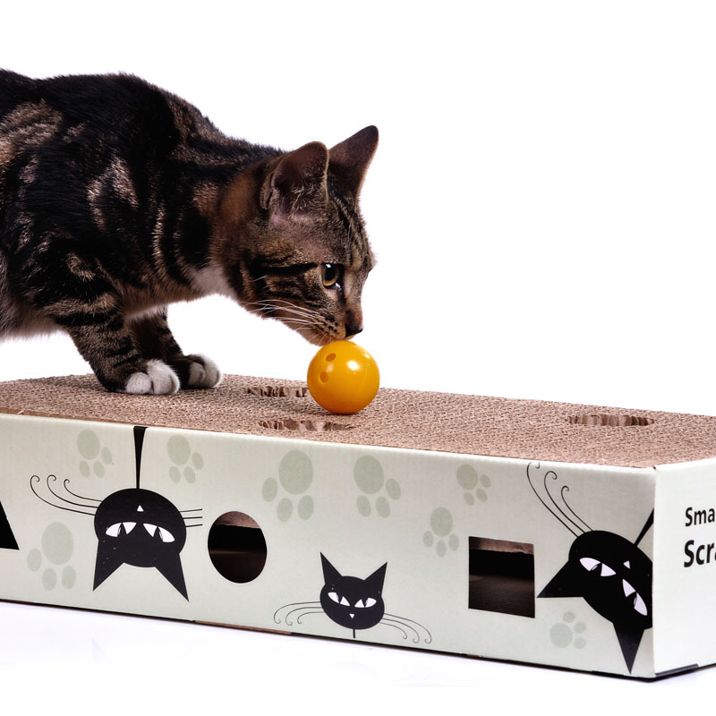 Cats catch ball catch carton cat climbing frame Scratching cat sound ball and hide and seek cat toy(China (Mainland))