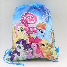 children day gift non-woven fabric drawstring backpacks my little pony kids girls travel bag decoration mochila cartoon backpack(China (Mainland))