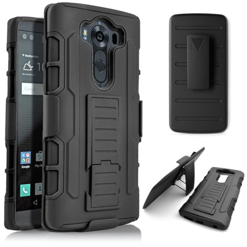 For LG V10 H968 Armor Impact Holster Belt Clip Shockproof Hard Case For LG G4 Pro Cell Phone Back Cover Cases(China (Mainland))