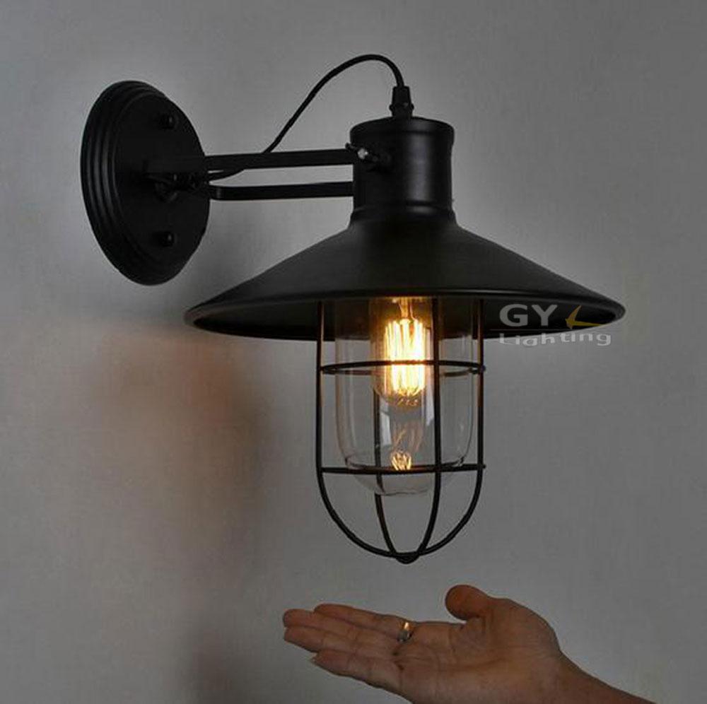 Wall Sconces Ikea: AC100-240V-D27cm-Black-Metal-Lampshade-Wall-lights-RH-Ikea