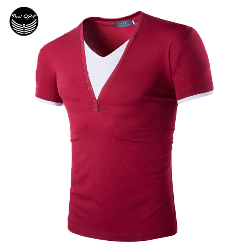 Buy new fashion mens 2016 short sleeve for Branded v neck t shirts