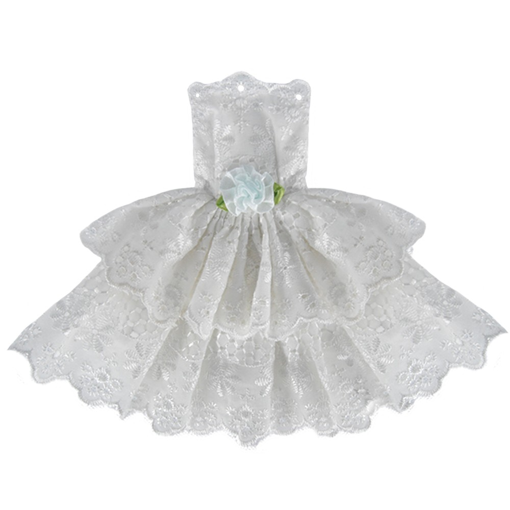 E-TING Handmade White Princess Robe Mini Gown Celebration Garments For Barbie Doll