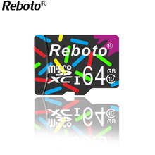 Buy Crazy hot Reboto memory card 64GB micro sd card 4GB 8GB 16GB 32GB memory disk TF card high speed microsd retail package for $3.70 in AliExpress store