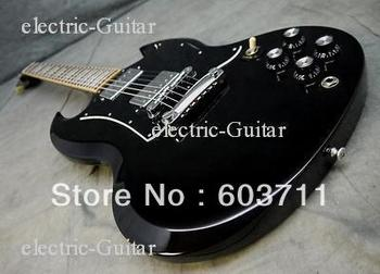 free shipping wholesale black Electric guitar with black pickguard