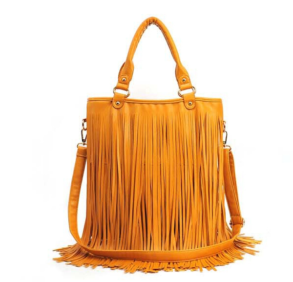 2014 womens handbag one shoulder casual cross-body bag PU tassel big bag<br><br>Aliexpress