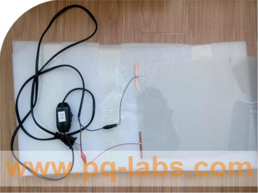 "white PDLC Switchable smart film sample is about 21cm*15cm or 8"" * 5"" for A5 size for rear projection screen film(China (Mainland))"