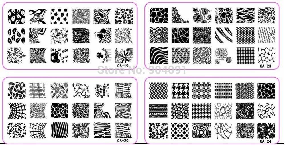 500 pçs/lote CA 120 * 60 MM tamanho Stamp estamparia imagem Konad placa de impressão prego Template Art DIY