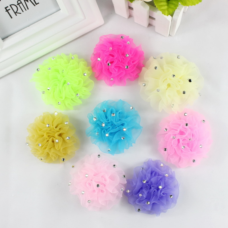 TS Free Shipping Fashion Baby girl hair accessories flower hair rubber ornaments children barrette hair styling Headwear(China (Mainland))