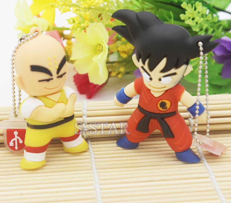 Cute Cartoon Goku Kuririn Gifts pen drive 8GB 16GB 32GB Dragon Ball Usb Flash Drive Pendrive memory stick USB creativo Wholesale(China (Mainland))
