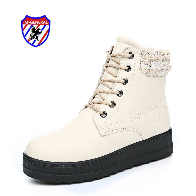 M.GENERAL 2016 Women Fashion Winter Style Ankle Boots Casual PU Canvas Shoes Hot Sale Walking Leisure Sapatos Scarpe Donna 909(China (Mainland))