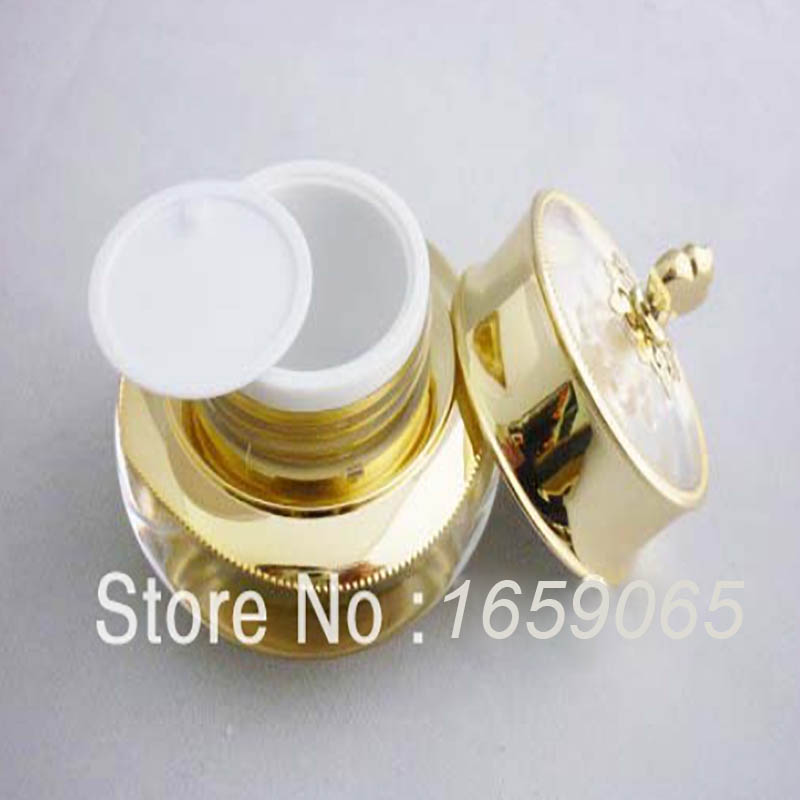 30G CROWN shape acrylic cream bottle,30ml jar cosmetic container Cosmetic Packaging 4 colors 10 - Victor's Packing Store store