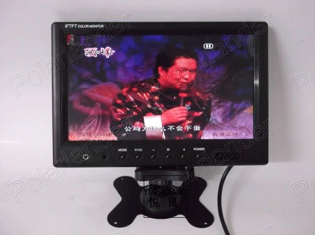 Digital TFT LCD Full HD 9 inch Car Monitor Backup Rear camera two-way AV in reverse priority car monitor display