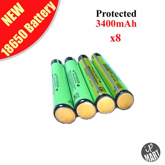 FS! 100% Original NCR18650B 18650 battery Protected Rechargeable Li-ion Battery 3.6V 3400mAh PCB Panasonic - IP-Mart store