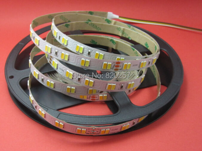 free shipping 5m/reel 24V Samsung 5630 smd led CCT color temperature adjustable and dimmable strip 112leds/m<br><br>Aliexpress
