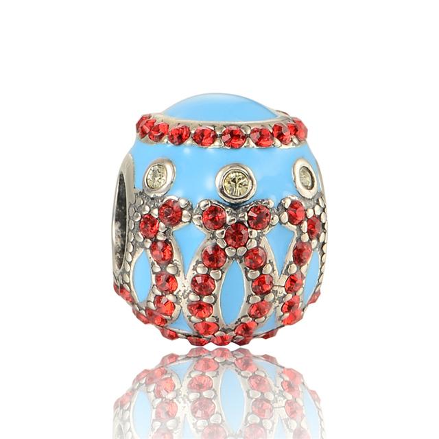 925 - серебристо-ювелирные бусины уникальный эмалью с кристально бусины Fit Chamilia пандора браслеты серебро 925 DIY