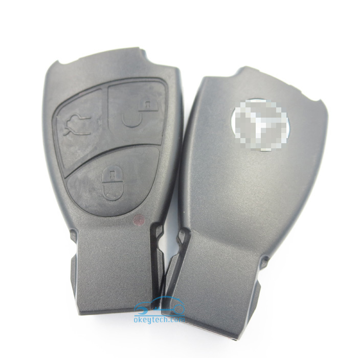 Free shipping Okeytech 10 pieces per lot benz 3 button remote key case with soft button(China (Mainland))