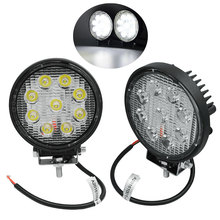 2PCS New 27W LED 60 Degree High Power Quality LED Offroad SUV FWD Round Off Road Flood Roof Work Light for Boating Hunting(China (Mainland))
