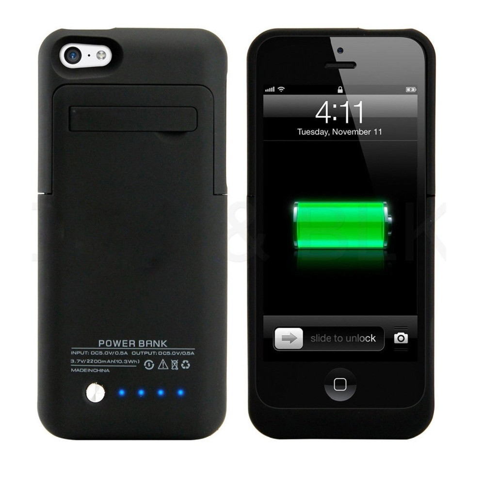 Ultra Slim External Power Bank Charger Case 2200mah For