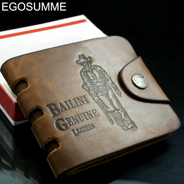 Foreign trade leisure leather wallet men genuine leather clip for money wallet men MC008