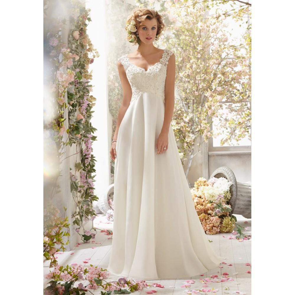 Свадебные платья Noiva 2016 новинка длинные свадебные ну вечеринку платья из шифона белый / кот невесты пляж свадебные платья 2016